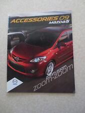 2009 Mazda 5 accessories advertising booklet