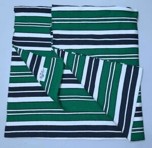 RALPH LAUREN HOME COLLECTION FLYING POINT STRIPE RLR2462K HEDGE GREEN AREA RUG