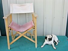Vintage Wood Folding Director Arm Chair