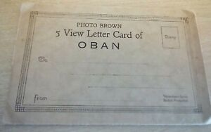 5 View Letter Card Oban Scotland