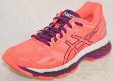 Asics Women's Gel-Nimbus 19 Running Shoes Coral Purple White, 5M