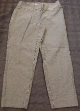 Ann Taylor Loft Petites Blue White Striped Julie Pants Sz 2 Cropped Seersucker