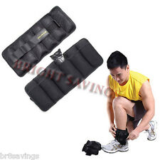 Gold's Gym Pair of 10 lb Adjustable Ankle, Wrist, Arm, Leg Weights - NEW