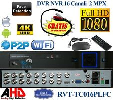DVR 16 CANALI IBRIDO ANALOGICO/DIGITALE UNIVERSALE IP 4K  FULL HD AHD VIDEO OUT