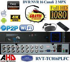 DVR 16 CANALI IBRIDO ANALOGICO/DIGITALE RICONOSCIMENTO FACCIALE E PERIMETRO 5MPX