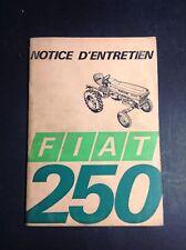 Tracteur - Fiat 250 - Trattori - Notice - Manuel d'entretien - B17