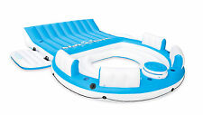 Intex 56299CA Inflatable Relaxation Island Raft with Backrests and Cooler