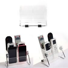 Clear TV Remote Control Phone Key Pen Glasses Storage Box Stand Holder Organizer