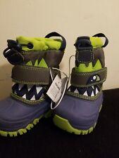 NEW Cat & Jack Toddler Boys' Size 4 Bernardo Monster Navy Winter Snow Boots