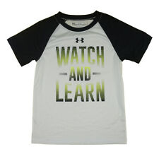 Under Armour Boys S/S White Watch And Learn Top Size 5