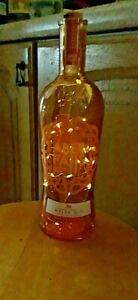 Gin bottle Aber Falls Welsh Gin + Warm White LED Lights RARE- 70cl Upcycle XMAS