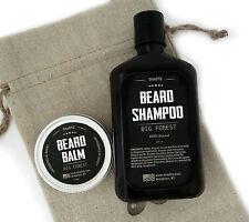 Big Forest Beard Care Kit: Beard Shampoo & Beard Balm. Promotes Beard Growth