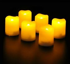 Set Of 6 Battery Operated Wax Flickering LED Votive Tea Light Candles 5cm Candle
