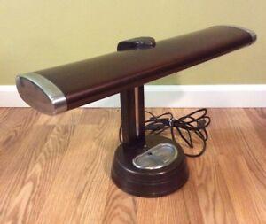 Vintage Art Deco Ashtray Desk Bankers Lamp Student Retro Industrial
