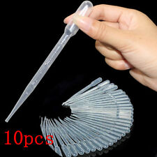 Disposable Plastic Eye Dropper Set 10pcs 3ML Transfer Graduated Pipettes