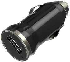 Genuine Kit 2.1 AMP USB Cigarette Lighter In-Car Travel Bullet Charger - Black