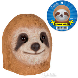 Archie McPhee Sloth Head Latex Mask Animal Party Rubber Costume Prop Toy Cosplay