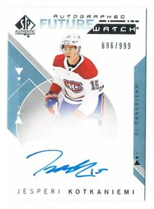 2018-19 SP Authentic Future Watch Rookie Autograph & Non Auto 999 Pick From List