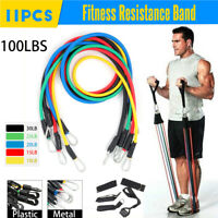 Fitness Stretch Tension Rope Door Anchor Resistance Band Ankle Straps Set + Bag