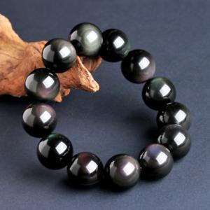 Natural Rainbow Eye Obsidian Bracelet for Men and Women 6-16mm  AAA+++