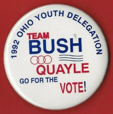 "1992 George HW Bush 3"" / ""Ohio Youth Delegation"" Presidential Campaign Button"