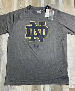 NEW Anti-Odor Under Armour Notre Dame Irish Mens Performance T-Shirt - LARGE