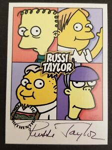 Simpsons Mania Russi Taylor autograph card Inkworks  2001