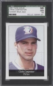 1995 Perkins Dunedin Blue Jays Chris Carpenter SGC 10 Rookie