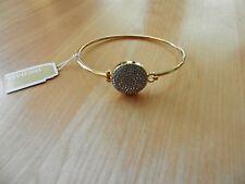 Michael Kors Goldtone Crystal Pave Disc Bangle Bracelet  MSRP $115