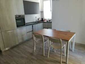 Table Metal Frame, Plan IN Oak, 1 Extensions Or Book And Various Sizes