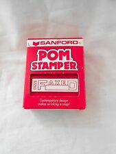 1994 Sanford POM FAXED Pre-inked Rubber Stamp
