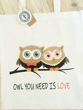 Owl Tote Bag   *HANDMADE, CAN BE CUSTOMISED*