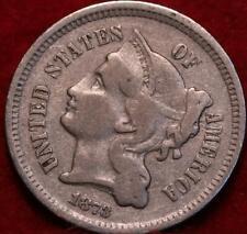 1873 Philadelphia Mint Nickel Three Cent Coin