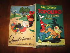 WALT DISNEY ALBO D'ORO N°308 TOPOLINO E IL LEONE MIOPE 1952