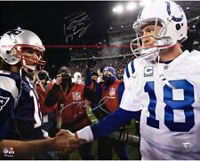 TOM BRADY & PEYTON MANNING Hand shake Autographed 8x10 Signed Photo Reprint