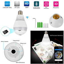 360° Panoramic 960P SPY Hidden wifi Camera Light Bulb Home Security IP CAM Lamp