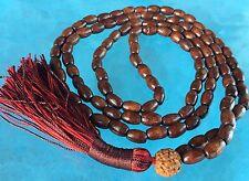 Holy Basil 108 Mala Beads Necklace Brown Tulsi Mala For Meditation