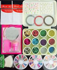 Nail Art Kit #3. Complete set for Birthday gift Girls Women. Beads. Stamping.