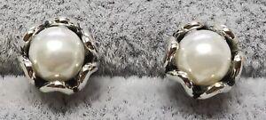 Pandora Studs Earrings 290533P Cultured Elegance White Pearl S925 ALE