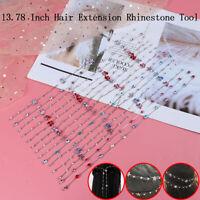 Girl Hair Braid Extension Rhinestone Glitter Jewelry Chain Straightener Hairt sp