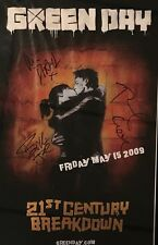 GREEN DAY Signed Poster Billie Joe Autographed Poster Tre Cool Mike Dirnt
