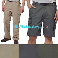 BC Clothing Men's Convertible Stretch Cargo Hiking Active Pants Short size/color