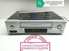 DAEWOO VIDEOREGISTRATORE VHS ALTA QUALITÀ HIFI STEREO 6 TESTINE LONG PLAY NTSC