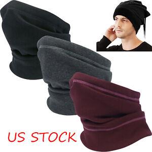 Polar Fleece Neck Warmer Winter Windproof Scarf Neck Gaiter Face Mask Snood Hat