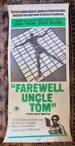 FAREWELL UNCLE TOM (Italian Mondo, 1971) original Australian daybill poster