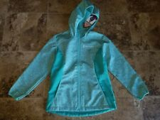 Nwt Girls Free Country Jacket Softshell Hooded Fresh Mint Water Wind Resistant
