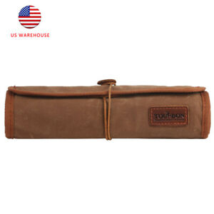 Tourbon Roll Up Tools Pouch Wax Canvas&Leather Carving Knives Organizer Storage