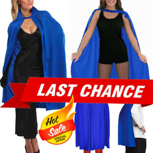 Blue Cloak Adult Cape Zentai Masquerade Superhero Halloween Costume Fancy Dress