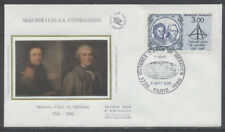 FRANCE FDC - 2428 1 MESURES D'ARCS DE MERIDIEN - 5 Septembre 1986 -LUXE sur soie