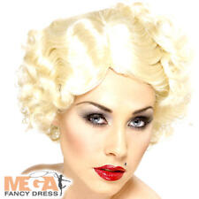 Hollywood Icon Wig Ladies Fancy Dress 950s Marilyn Womens Adults Costume Acc New